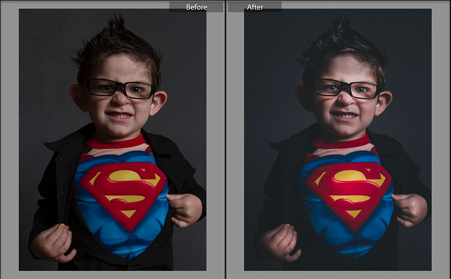 Kids Superhero Photo Before and After